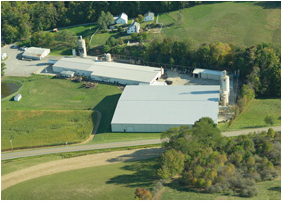 Aerial view of our Walnut Creek, OH facility.