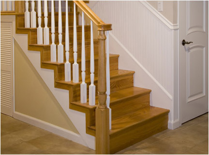 Custom Hardwood Hand Rails